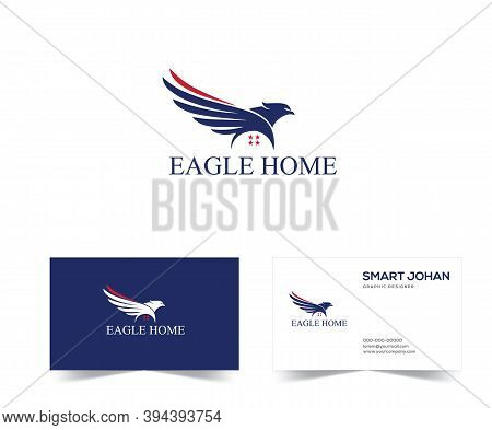Eagle Mortgage Logo . Eagle Home Logo Design Stock Vector Illustration. Eagle House Logo . Eagle Rea