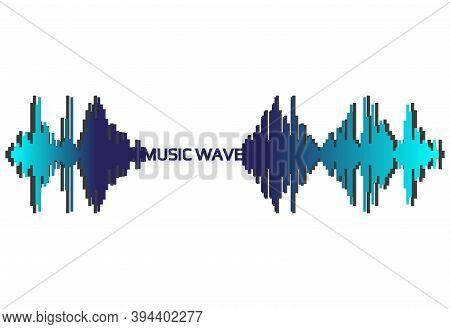 Pulse Music Player. Audio Wave Logo. Vector Sound Equalizer Element