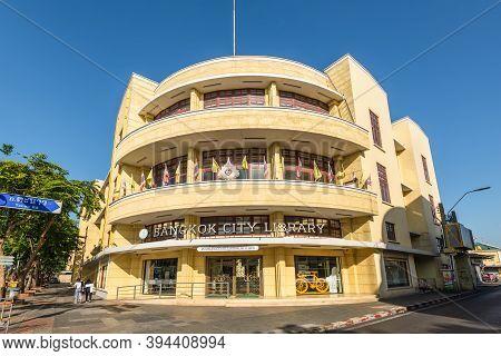 Bangkok, Thailand - December 7, 2019: The Bangkok City Library Is A Public Library In Thailand. It O