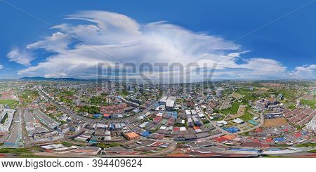 360 Panorama By 180 Degrees Angle Seamless Panorama Of Aerial View Of Residential Buildings In Sri R