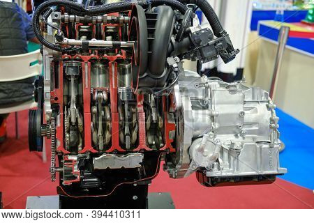 Four Cylinder Petrol Internal Combustion Engine From Mazda - Moscow, Russia, 12 13 2019