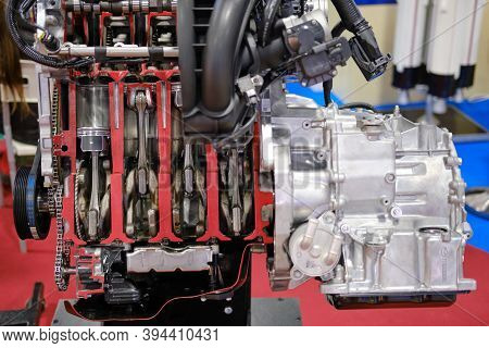 Mazda Four Cylinder Gasoline Internal Combustion Engine - Moscow, Russia, 12 13 2019