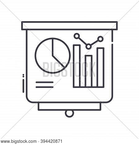 Benchmarking Icon, Linear Isolated Illustration, Thin Line Vector, Web Design Sign, Outline Concept