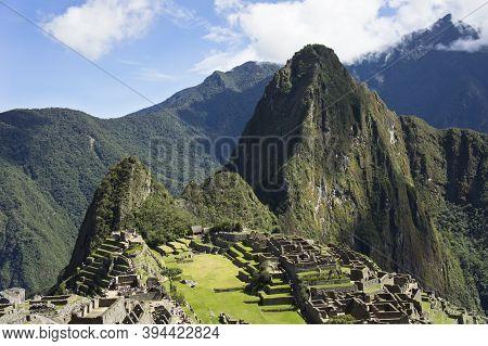 Machu Picchu On A Sunny Day, Peru, South America