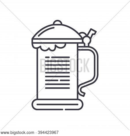Beer Steins Icon, Linear Isolated Illustration, Thin Line Vector, Web Design Sign, Outline Concept S