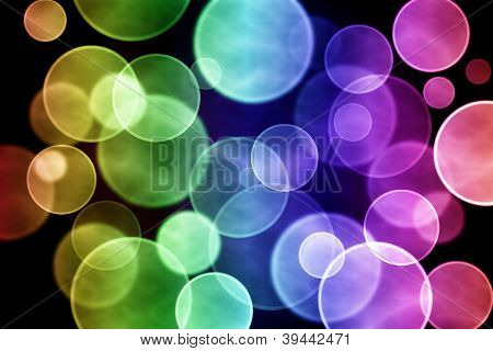 Colorful circular bokeh