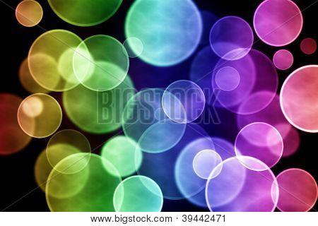 Colorful circular bokeh