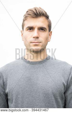 Male Portrait Headshot Outdoors, Italian Male Model
