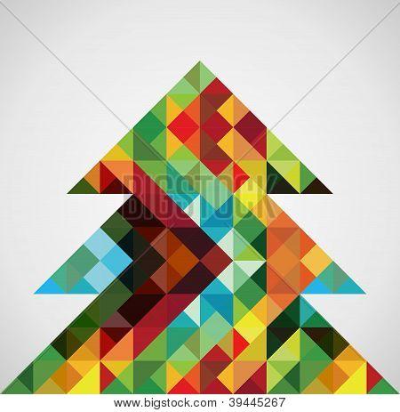 Retro Mosaic Christmas Tree