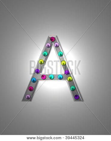Alphabet Metal Marquee Aa