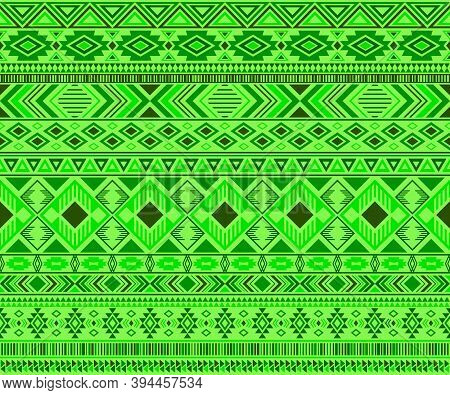 Peruvian American Indian Pattern Tribal Ethnic Motifs Geometric Seamless Background. Eclectic Native