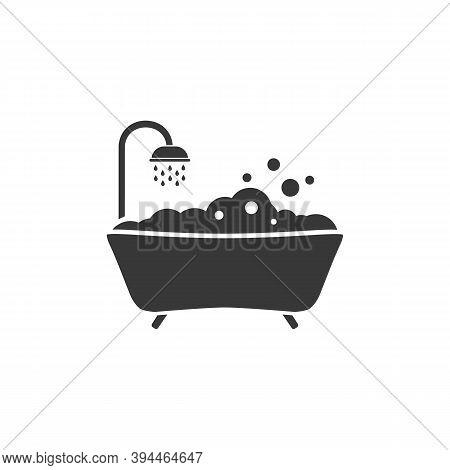 Bath Icon Vector. Style Sign For Mobile Concept And Web Design. Bath Symbol Illustration