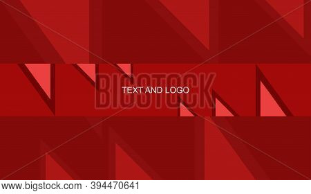 Channel Banner Red Abstract Template