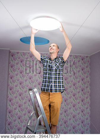 Male Isfinishing Assembling And Mounting Ecological Ceiling Led Light