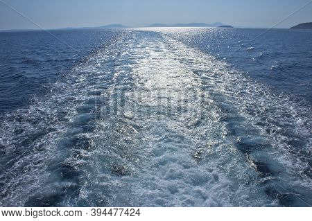 Igoumenitsa Sea View Seen From A Ferry Boat, Epirus, Greece, Europe