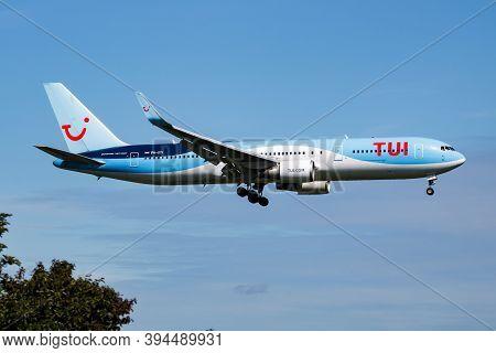 Amsterdam / Netherlands - July 4, 2017: Tui Tuifly Arkefly Boeing 767-300 Ph-oyi Passenger Plane Arr