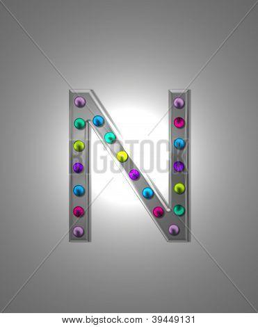 Alphabet Metal Marquee N