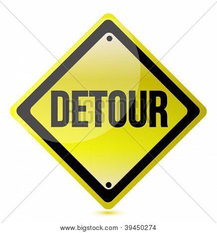 Detour Yellow Sign