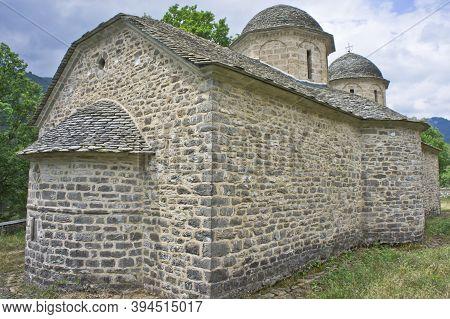 Agios Nikolaos, Traditional Church,  Typical Stone Church Epirus, Ioannina, Greece