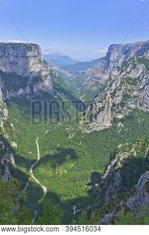 Vikos Gorge Panoramic View, Epirus, Greece, Europe