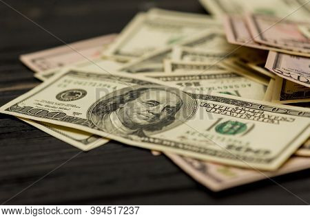 Dollars Background. Dollars Background. Background Of Different Us Dollar Banknotes. Finance Concept