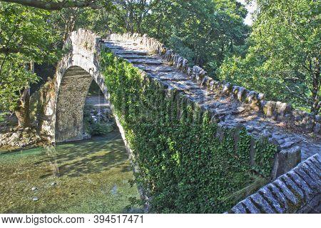 Old Stone Bridge, Aoos River, Epirus, Greece, Europe