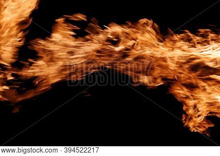 Abstract Orange Fire Flames. Burning And Igniting