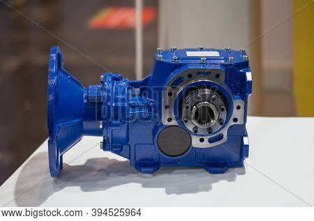 Helical Bevel Gear Reducers. Industrial Gearbox Transmission