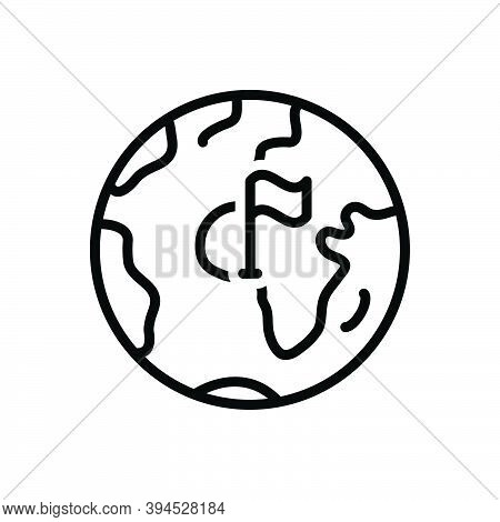 Black Line Icon For County Territory Region Province Shire Constituency Continent Globe Boundary Geo