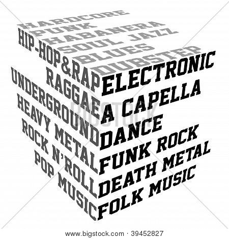 Typography With Music Genres