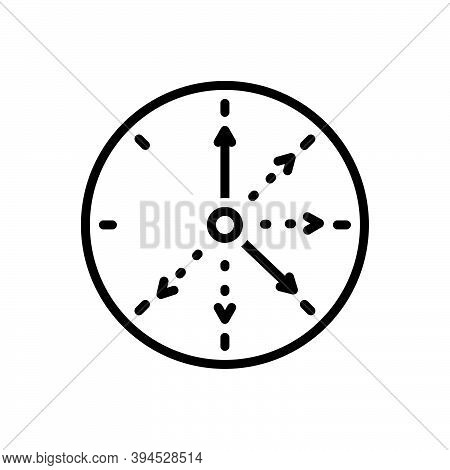 Black Line Icon For Frequent Repeat Continual Always Regular Steady Circle