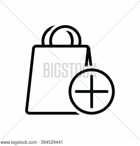 Black Line Icon For Item Object Commodity Thing Groceries Shop Element Product Shopping-bag Daily-us