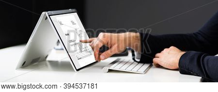 Online E Invoice Statement And Digital Electronic Bill