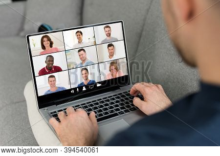 Online Video Conference Webinar Call Using Videoconferencing Technology