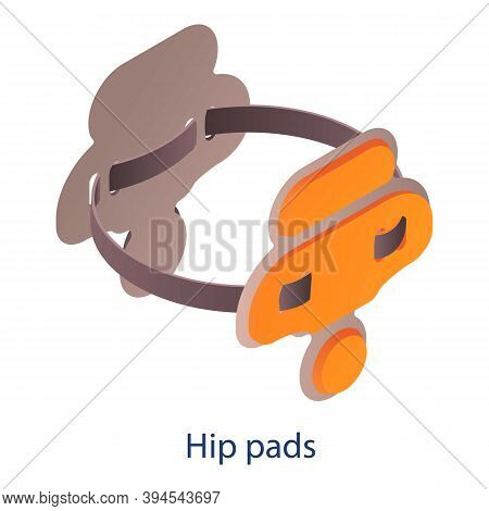 American Football Hip Pads Icon. Isometric Of American Football Hip Pads Vector Icon For Web Design