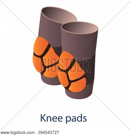 American Football Knee Pads Icon. Isometric Of American Football Knee Pads Vector Icon For Web Desig