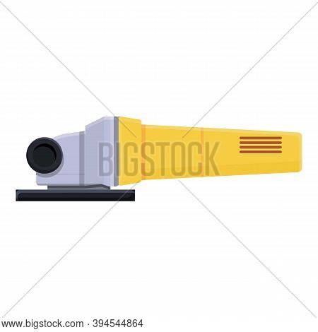 Angle Grinding Machine Icon. Cartoon Of Angle Grinding Machine Vector Icon For Web Design Isolated O