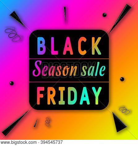 Black Friday Season Sale Banner Flyer Design Image