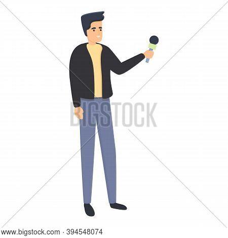 Reportage University Student Icon. Cartoon Of Reportage University Student Vector Icon For Web Desig