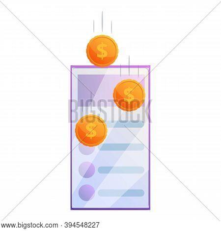 Data Monetization Icon. Cartoon Of Data Monetization Vector Icon For Web Design Isolated On White Ba