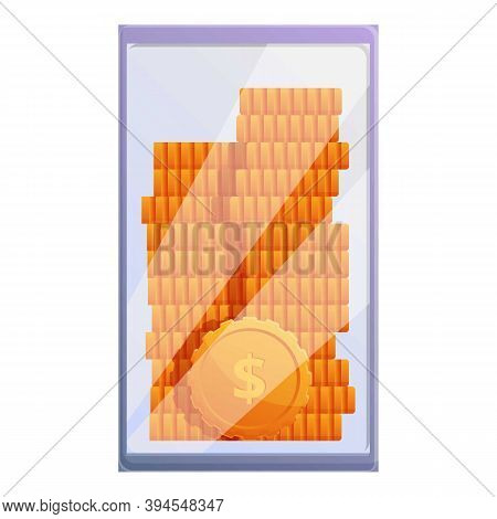 Monetization Coin Stack Icon. Cartoon Of Monetization Coin Stack Vector Icon For Web Design Isolated