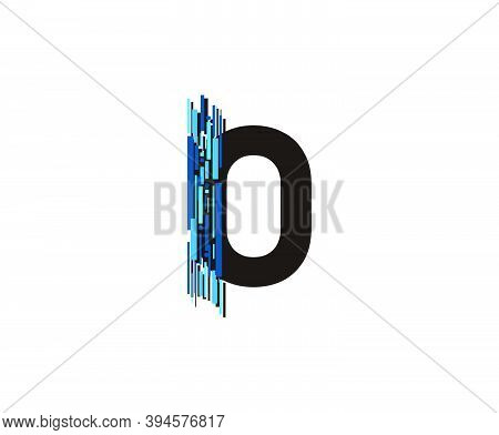 Modern Technology O Letter, Data Digital O Logo Icon.