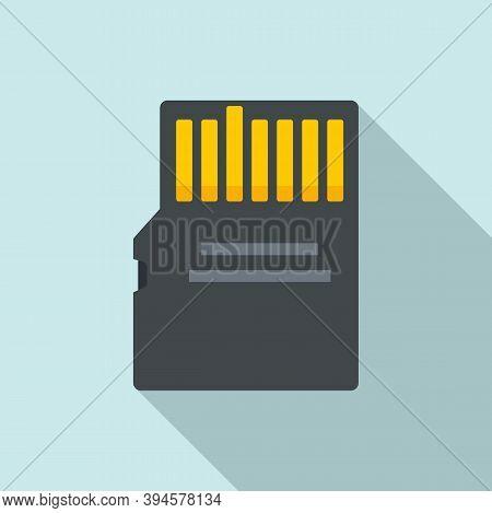 Storage Micro Ssd Card Icon. Flat Illustration Of Storage Micro Ssd Card Vector Icon For Web Design