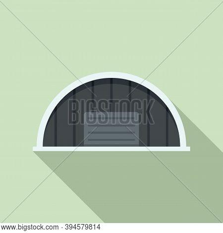 Storage Hangar Icon. Flat Illustration Of Storage Hangar Vector Icon For Web Design