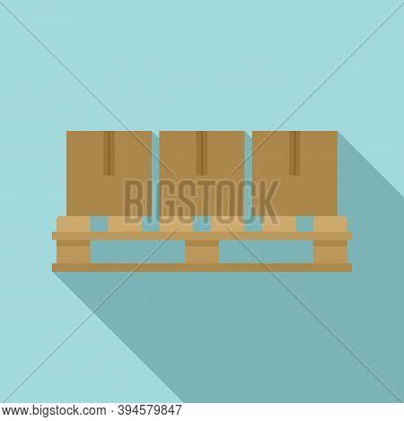 Storage Parcel Pallet Icon. Flat Illustration Of Storage Parcel Pallet Vector Icon For Web Design