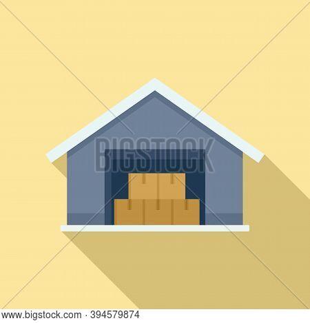 Storage Parcel Warehouse Icon. Flat Illustration Of Storage Parcel Warehouse Vector Icon For Web Des