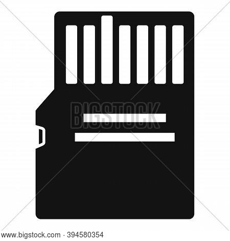 Storage Micro Ssd Card Icon. Simple Illustration Of Storage Micro Ssd Card Vector Icon For Web Desig