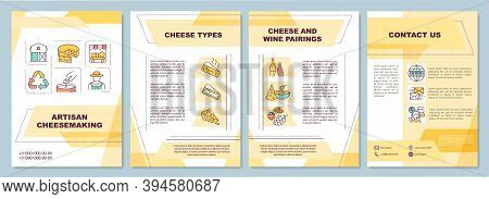 Artisan Cheesemaking Brochure Template. Cheese And Wine Pairings. Flyer, Booklet, Leaflet Print, Cov