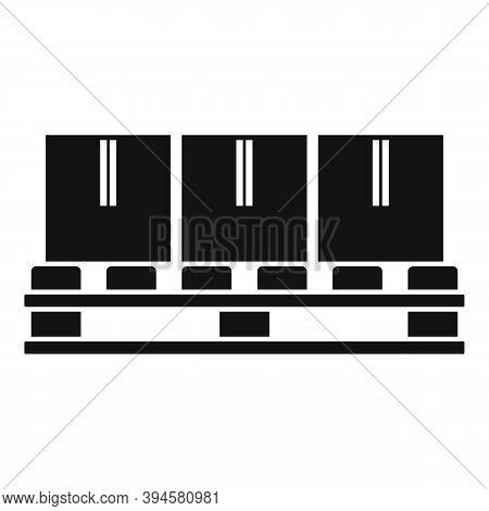 Storage Parcel Pallet Icon. Simple Illustration Of Storage Parcel Pallet Vector Icon For Web Design
