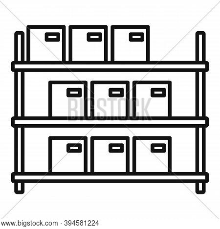 Storage Parcel Rack Icon. Outline Storage Parcel Rack Vector Icon For Web Design Isolated On White B